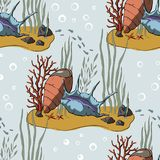 Vector pattern with coral reef. vector illustration