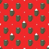 Vector pattern with cups stock illustration