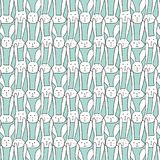 Vector Pattern With Cute Bunnies. Vector Illustration stock illustration