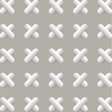 Vector pattern with 3d crosses Royalty Free Stock Image