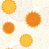 Vector  pattern on the day of the sun. Royalty Free Stock Photography
