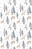 Vector pattern with deers and trees Royalty Free Stock Image