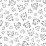 Vector pattern with diamonds, black and white seamless pattern. Vector seamless pattern with dimonds on white background Royalty Free Stock Images