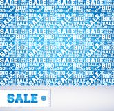 Vector pattern of discount. Sales. Stock Photography