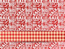 Vector pattern of discount. Sales. Royalty Free Stock Images
