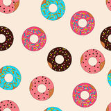 Vector pattern donuts with caramel topping Royalty Free Stock Photos