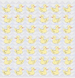 Vector pattern with ducks Stock Image