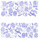 Vector pattern for Easter Eggs, flowers, bunny Happy easter pattern. Pattern for Easter Eggs, flowers, bunny Happy easter pattern Stock Images