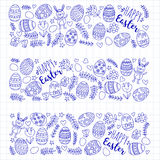 Vector pattern for Easter Eggs, flowers, bunny Happy easter pattern. Pattern for Easter Eggs, flowers, bunny Happy easter pattern Stock Photos