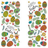 Vector pattern for Easter Eggs, flowers, bunny Happy easter pattern. Pattern for Easter Eggs, flowers, bunny Happy easter pattern Stock Photography