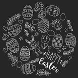 Vector pattern for Easter Eggs, flowers, bunny Happy easter pattern. Pattern for Easter Eggs, flowers, bunny Happy easter pattern Royalty Free Stock Photography