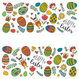 Vector pattern for Easter Eggs, flowers, bunny Happy easter pattern. Pattern for Easter Eggs, flowers, bunny Happy easter pattern Royalty Free Stock Photo