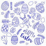 Vector pattern for Easter Eggs, flowers, bunny Happy easter pattern. Pattern for Easter Eggs, flowers, bunny Happy easter pattern Stock Image