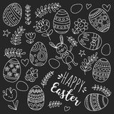 Vector pattern for Easter Eggs, flowers, bunny Happy easter pattern. Pattern for Easter Eggs, flowers, bunny Happy easter pattern Stock Photo
