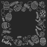 Vector pattern for Easter Eggs, flowers, bunny Happy easter pattern. Pattern for Easter Eggs, flowers, bunny Happy easter pattern Royalty Free Stock Images