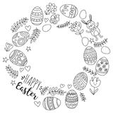 Vector pattern for Easter Eggs, flowers, bunny Happy easter pattern Coloring page. Pattern for Easter Eggs, flowers, bunny Happy easter pattern Royalty Free Stock Photography
