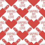 Vector pattern of the electronic cigarette in shape  heart Stock Photo