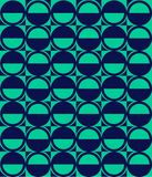 Vector pattern with ellipse and hemisphere Stock Image