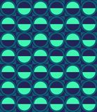 Vector pattern with ellipse and hemisphere Royalty Free Stock Image