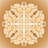 Vector pattern of ethnic ornament for design. Vector pattern of ethnic ornament with lace filigree elements for design Royalty Free Stock Image
