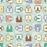 Vector pattern with fashion colorful handbags Stock Image