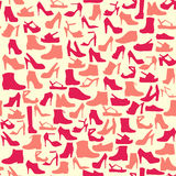 Vector pattern  of fashion  Footwear-illustration Royalty Free Stock Images
