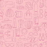 Vector pattern of fashion objets and trendy accessories Stock Photo