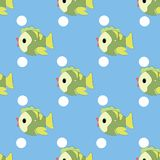 Vector pattern of fish Stock Image