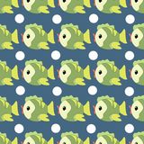 Vector pattern of fish Royalty Free Stock Photography