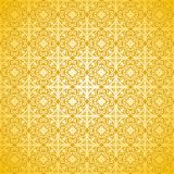 Vector pattern - floral and geometrical ornamen Stock Images