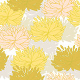 Vector pattern with floral ornament Royalty Free Stock Images