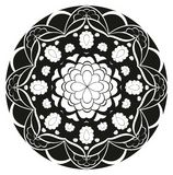 Vector pattern - flower rosette Stock Photos