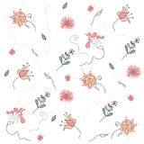 Vector pattern with flowers Royalty Free Stock Image
