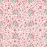 Vector pattern with flowers, leaves, and plants. Floral decor. Floral seamless background vector illustration