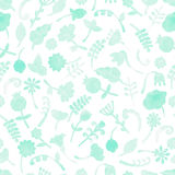 Vector pattern with flowers and plants vector illustration