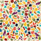 Vector Pattern  Food and beverages  background Royalty Free Stock Photography