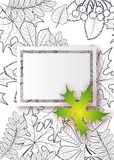 Vector, pattern, frame with autumn leaves Royalty Free Stock Photos