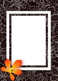 Vector, pattern, frame with autumn leaves Stock Images