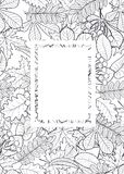 Vector, pattern, frame with autumn leaves Royalty Free Stock Photo