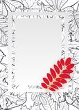Vector, pattern, frame with autumn leaves Stock Photography