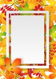 Vector pattern frame with autumn leaves Royalty Free Stock Photo