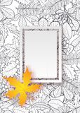 Vector pattern frame with autumn leaves Stock Photography