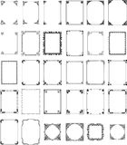 Vector pattern frames set Royalty Free Stock Photo