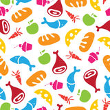 Vector pattern of Fruits, Vegetables and food Stock Photos