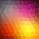 Vector pattern of geometric shapes. Colorful-mosaic-banner. Geometric hipster retro background with place for your text. Royalty Free Stock Image