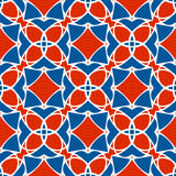Vector pattern of geometric shapes. Mosaic seamless texture. Of red - blue elements Stock Photos