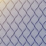 Vector pattern with geometric waves. Endless stylish texture. Ripple monochrome background repeating linear Stock Photography