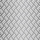 Vector pattern with geometric waves. Endless stylish texture. Ripple monochrome background. Pattern is on swatches panel stock illustration