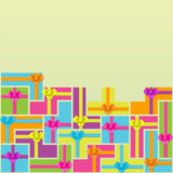 Vector pattern with gift boxes royalty free illustration