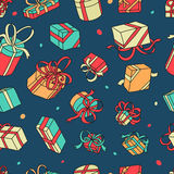 Vector Pattern Gifts Royalty Free Stock Photography